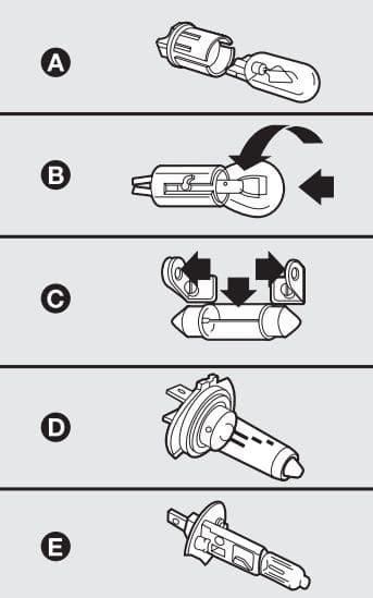 Abarth Punto 2012 - bulbs