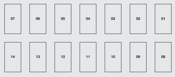 Abarth Punto 2012 - fuse box - dashboard