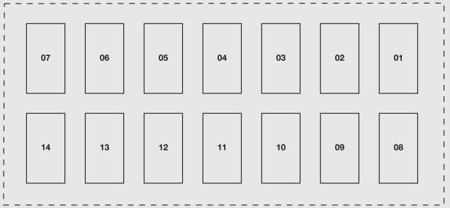 Fiat Grande Punto - fuse box - dashboard