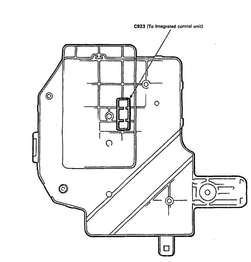 Acura Legend - fuse box diagram - under-dash (back side)