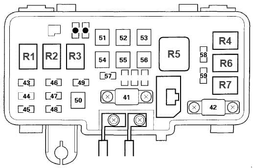 Acura MDX - fuse box diagram - engine compartment