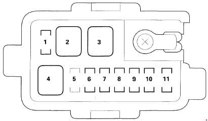 Acura MDX - fuse box diagram - under-hood Subfuse Box