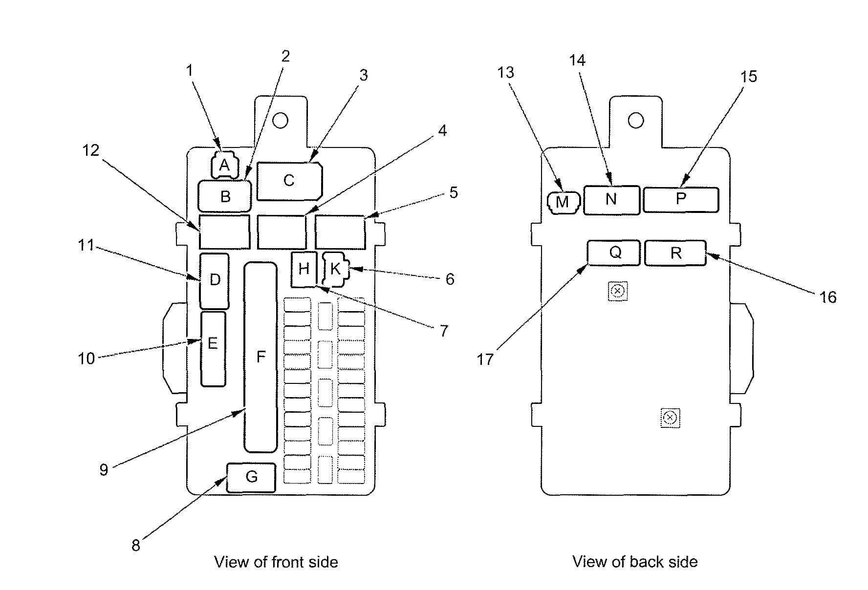 Acura TL - fuse box diagram - driver's under-dash box
