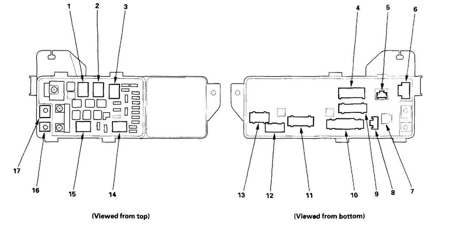 Acura TL - fuse box diagram - under-hood box