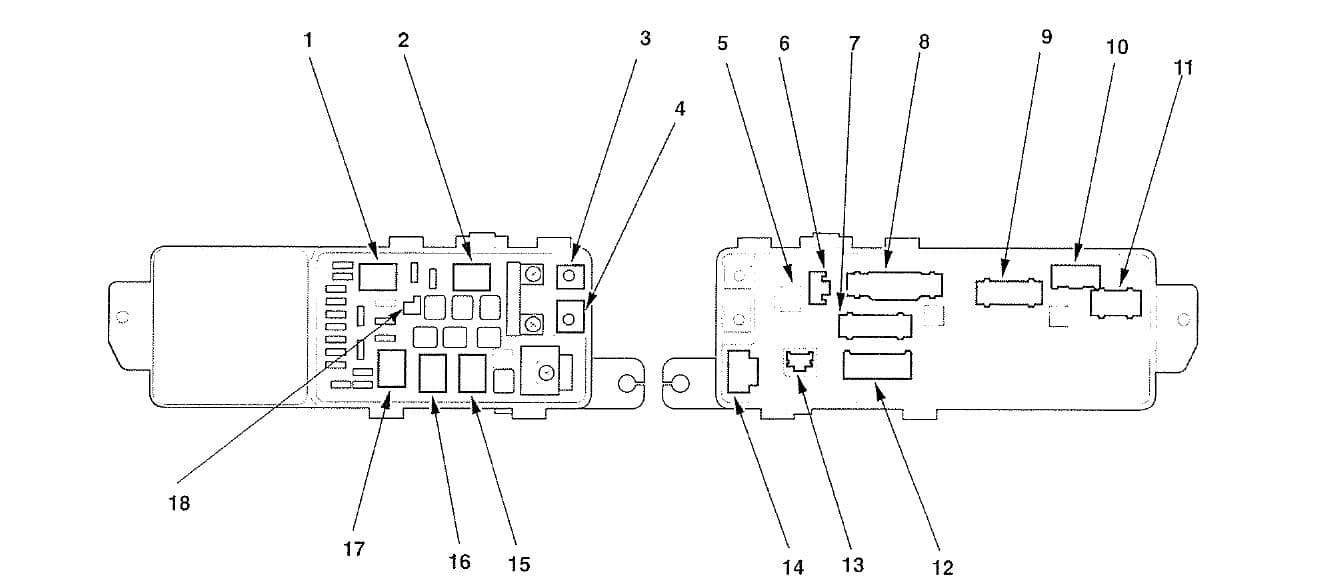 Acura TL - fuse box diagram - under-hood box - connector to fuse/relay box
