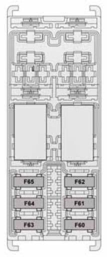 Alfa Romeo Giulietta - fuse box - boot compartment