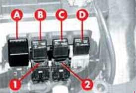 Alfa Romeo 145 - fuse box diagram - additional fuses (T.SPARK)