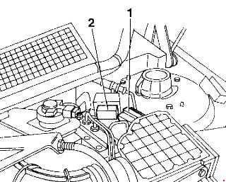 Alfa Romeo 155 - fuse box diagram - heating-ventilation system