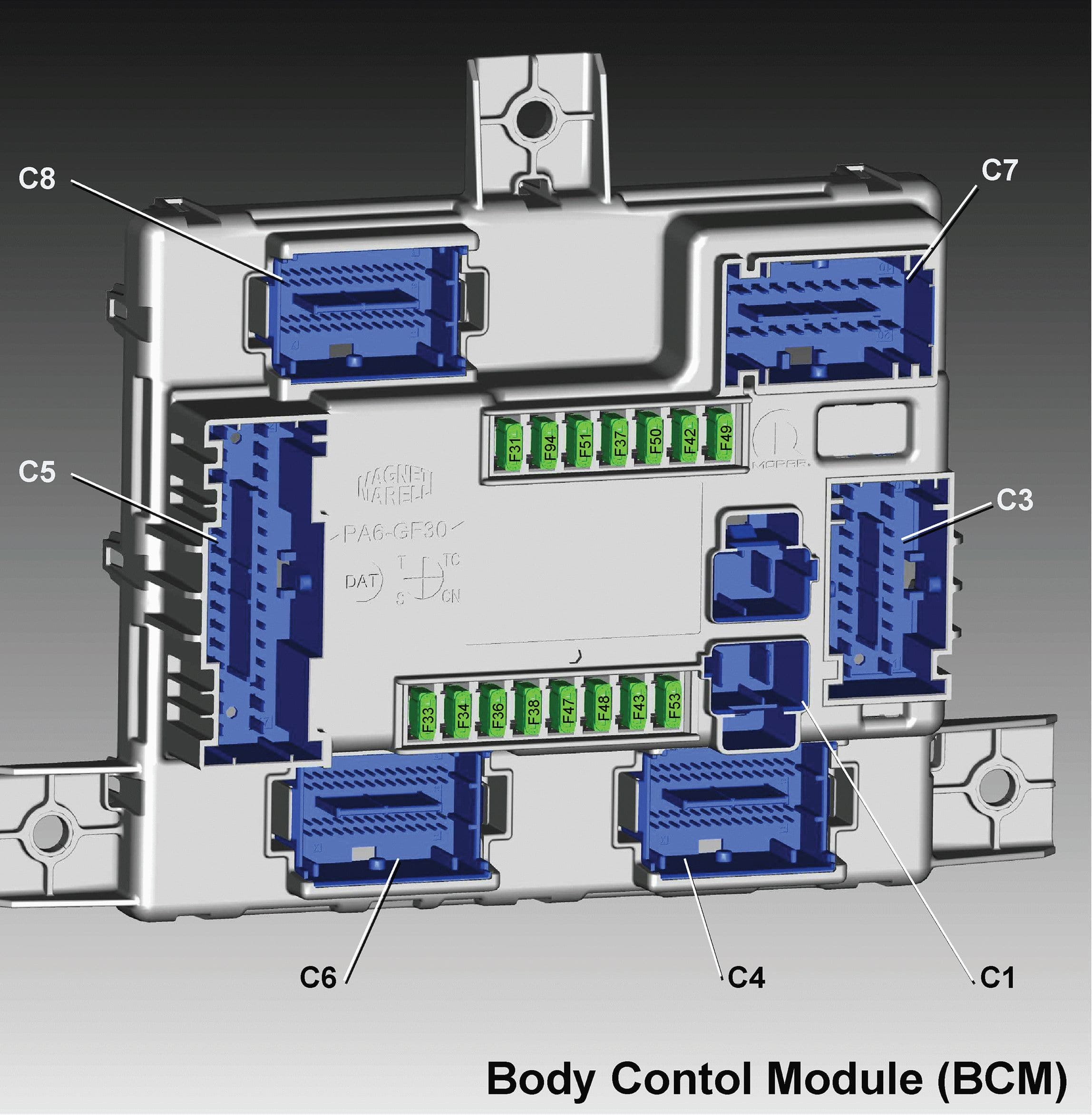 Alfa Romeo Giulia - fuse box diagram - body control module BCM