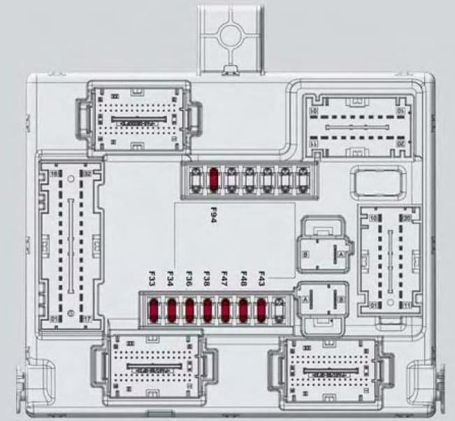 Alfa Romeo Giulia - fuse box - passeneger side control unit