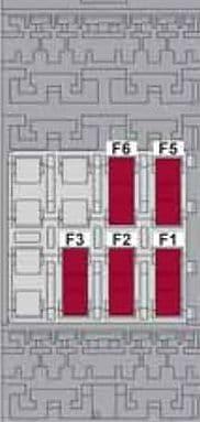 Alfa Romeo Giulietta - fuse box diagram - luggage compartment