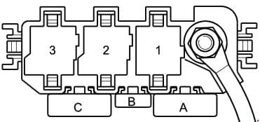 Audi A2 - fuse box diagram - relay carrier (3 point)