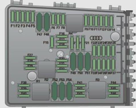 Audi A3 - fuse box diagram - engine compartment