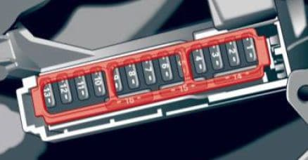 Audi A4 - fuse box diagram - driver's side cocpit
