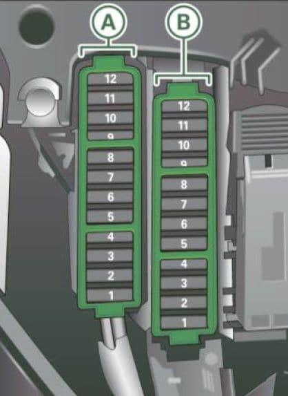 Audi A5 - fuse box diagram - right cocpit