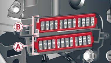 Audi A6 - fuse box diagram - front passenger side cockpit fuse assignment