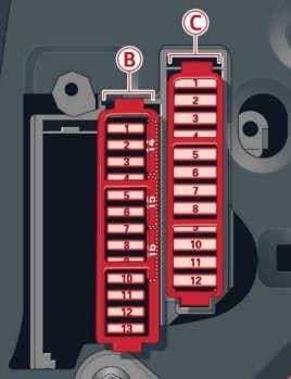 Audi A8 (D4) - fuse box diagram - driver side cocpit