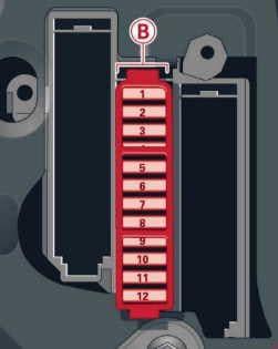 Audi A8 (D4) - fuse box diagram - passenger side cocpit