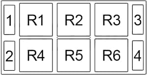 Audi A8 - fuse box diagram - passenger compartment relay box no. 4