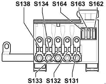 Audi S3 8L - fuse box diagram - main fuse box