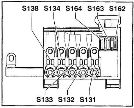 Audi TT - fuse box diagram