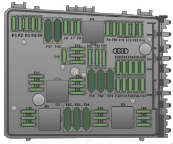 Audi TT - fuse box diagram - engine compartment