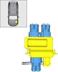 BMW X5 -(F15) - fuse box diagram - engine compartment (non replaceable)