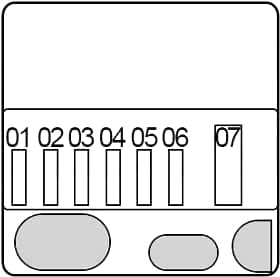 BMW X5 (F15) - fuse box diagram - non replaceable