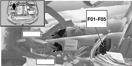 BMW 5-Series - fuse box diagram - engine compartment - diesel engine