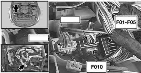 BMW 5-Series - fuse box diagram - engine compartment N52