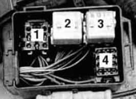 BMW 525i - fuse box - auxiliary relay box
