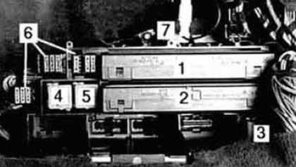 BMW 540i - fuse box - rear power distribution box