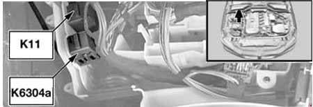 BMW 6-Series (E63 and E64) - fuse box diagram - Windscreen Wiper Relay (K11) Secondary Air Pump Relay (K6304a)