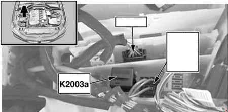 BMW 6-Series (E63 and E64) - fuse box diagram - DDE main relay (K20030a) - M57 TU