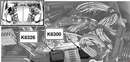 BMW 6-Series (E63 and E64) - fuse box diagram - DDE relay (K6300) - S85