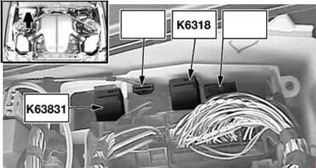 BMW 6-Series (E63 and E64) - fuse box diagram - hydraulic pump relay, SMG (K6318) - S85