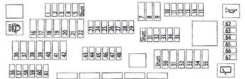 BMW 7-Seiers - fuse box diagram - glove compartment