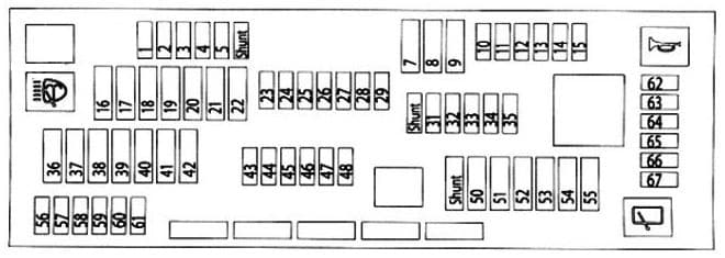 BMW X3 - fuse box diagram - glovebox