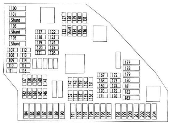 BMW X3 - fuse box diagram - luggage compartment