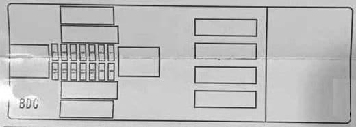 BMW X5 - fuse box diagram - body domain controler