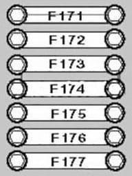 BMW X5 - fuse box diagram - on battery
