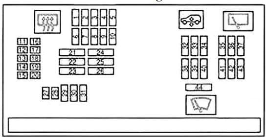 BMW X6 - fuse box diagram - instrument panel