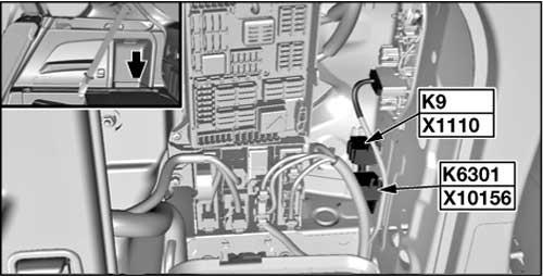 BMW X6 - fuse box diagram - relay - terminal 15 power saving relay K9
