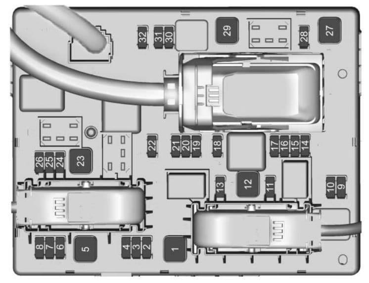 Buick Cascada - fuse box - rear compartment