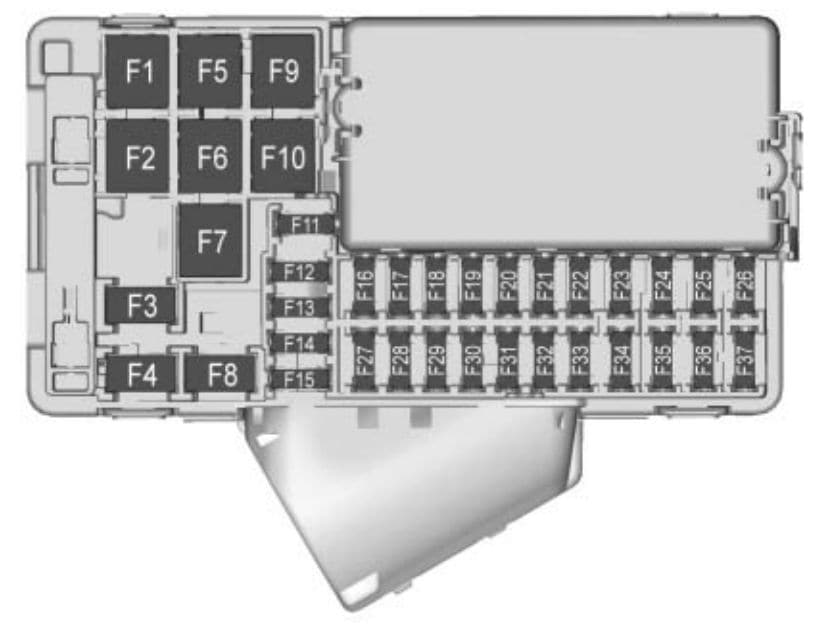 Buick Envision - fuse box - instrument panel