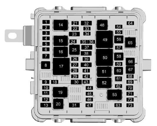 Cadillac CT6 - fuse box - engine compartment