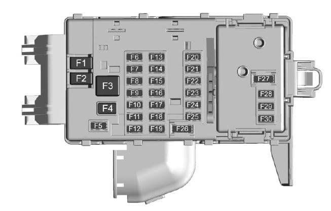 Cadillac CT6 - fuse box - instrument panel