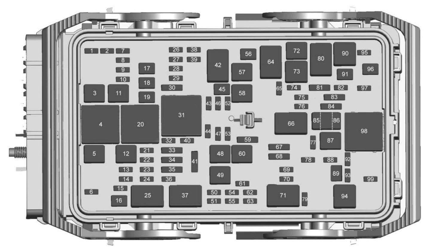 Chevrolet Malibu - fuse box diagram - engine compartment