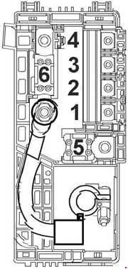 Chevrolet Orlando J309 - fuse box diagram - above battery