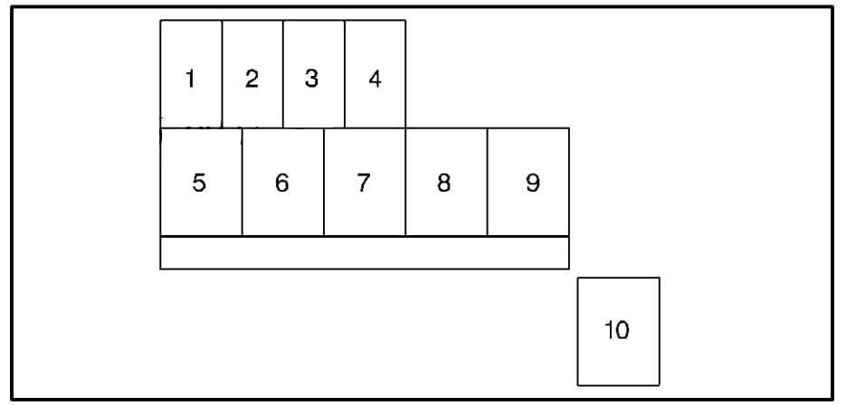 Chevrolet Tracker - fuse box - diagram engine compartment